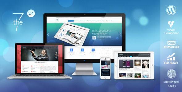 Theme de WordPress Estilo Flat: The7
