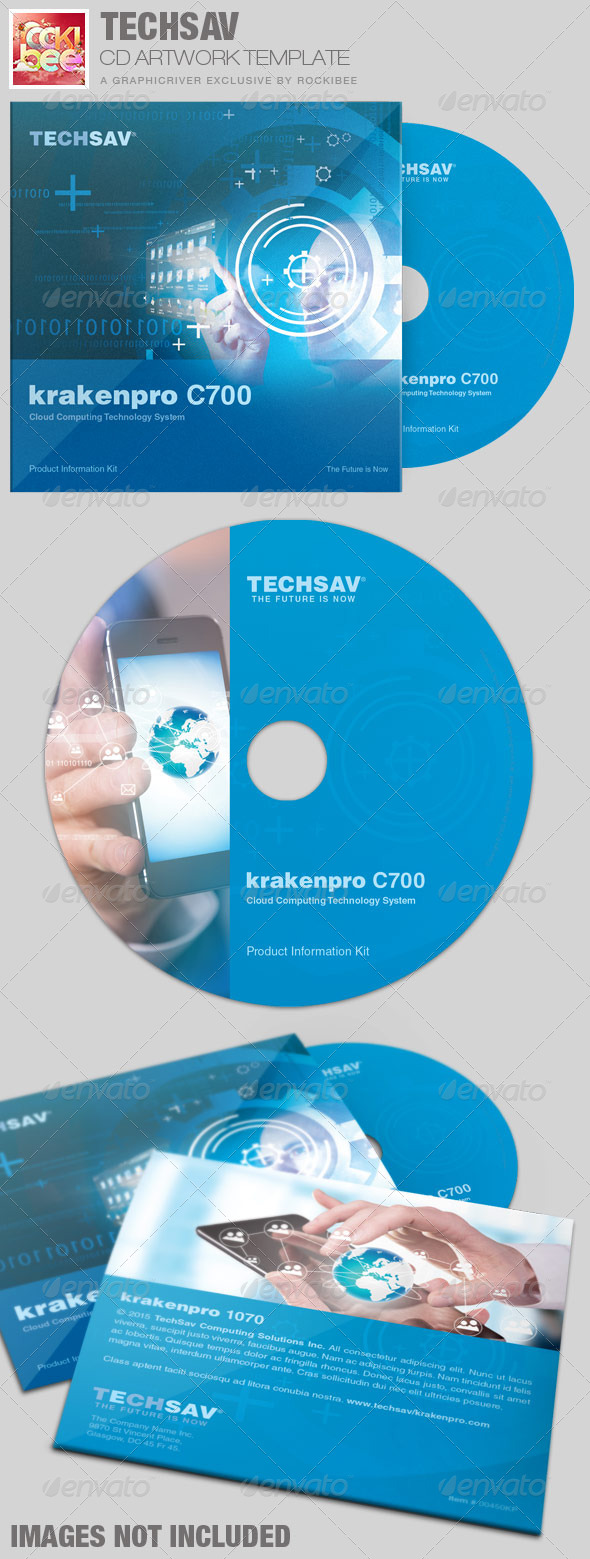 GraphicRiver Techsav Corporate CD Artwork Template 7312967