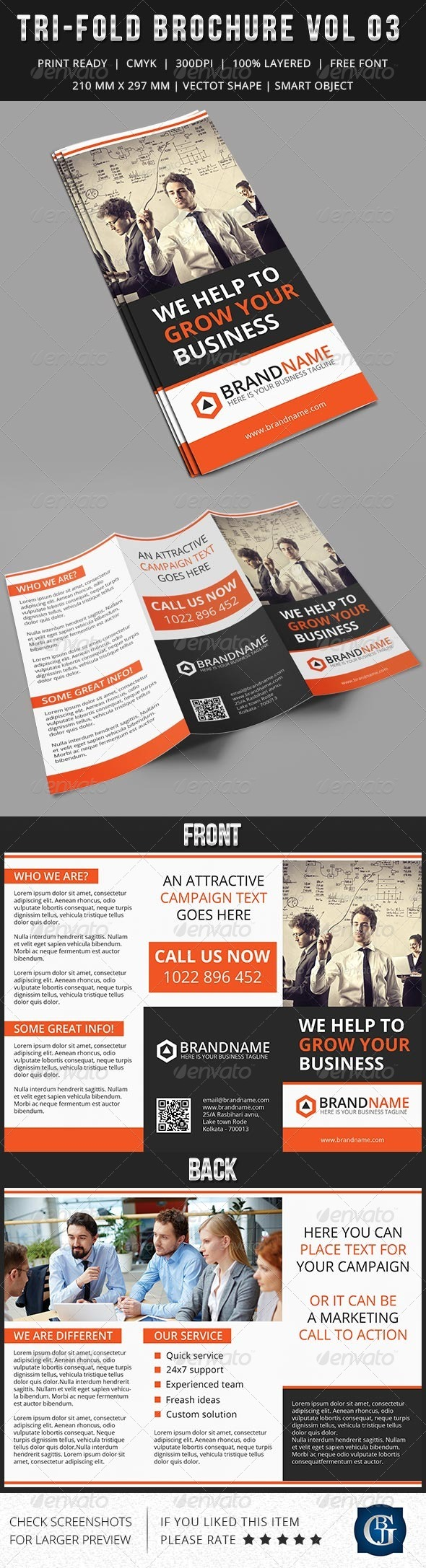 GraphicRiver Corporate Multipurpose Trifold Brochure Vol 3 7313176
