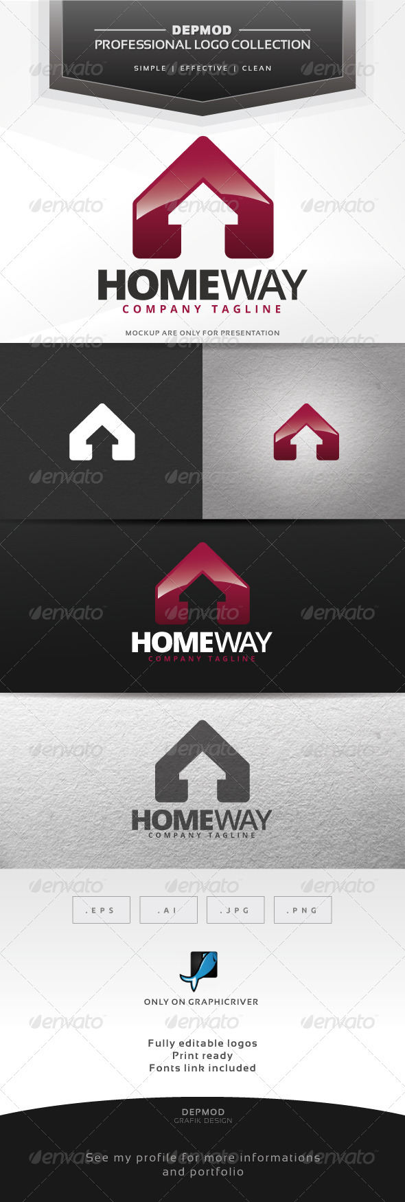 GraphicRiver Home Way Logo 7313200