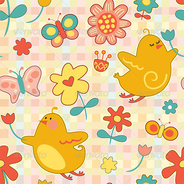 GraphicRiver Repeat Spring Pattern 7313297