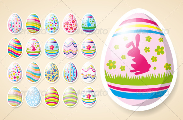 GraphicRiver Vector Easter Eggs 7313345