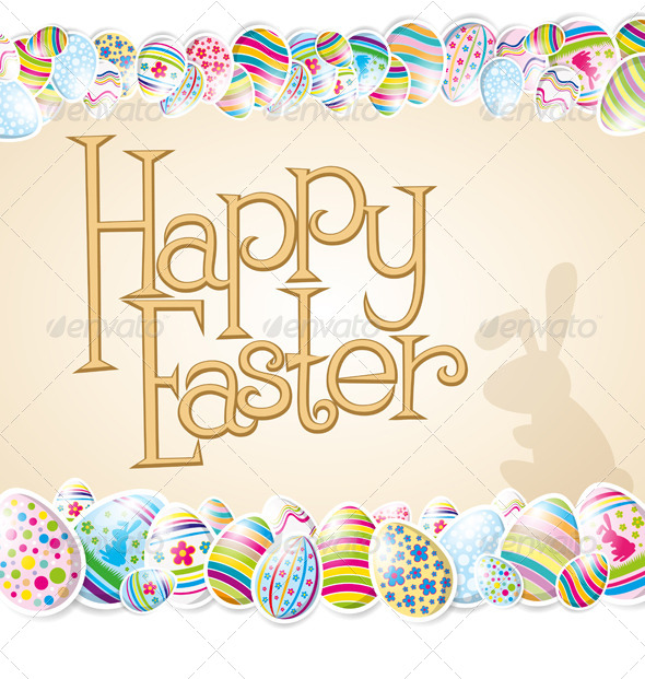 GraphicRiver Vector Easter Card 7313346