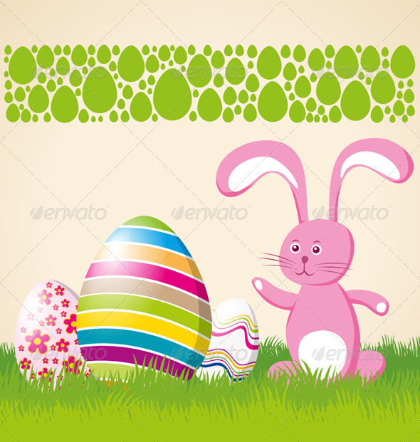 GraphicRiver Vector Easter Card 7313349
