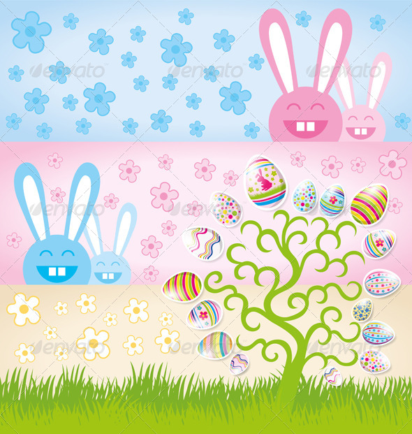GraphicRiver Vector Easter Card 7313350
