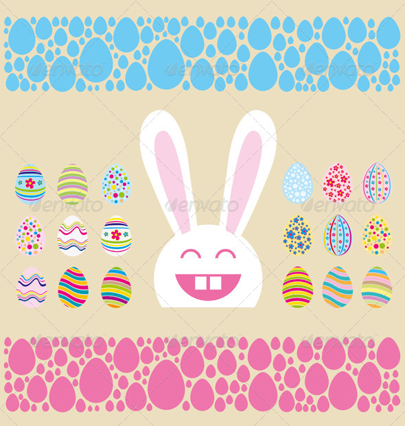 GraphicRiver Vector Easter Card 7313352
