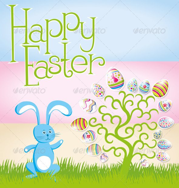 GraphicRiver Vector Easter Card 7313360