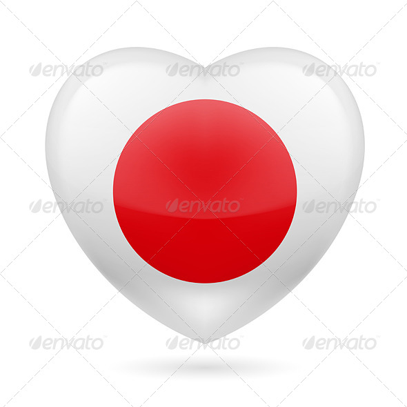 GraphicRiver Heart Icon of Japan 7313583