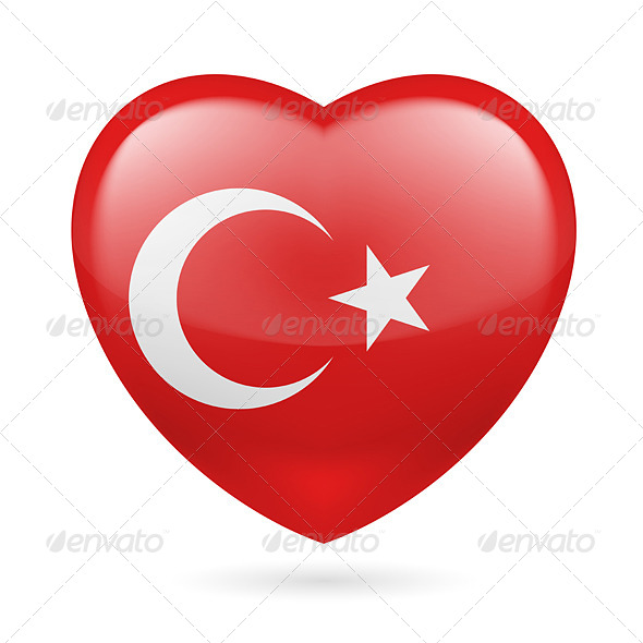 GraphicRiver Heart Icon of Turkey 7313652
