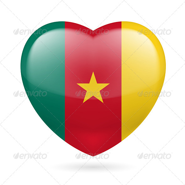 GraphicRiver Heart Icon of Cameroon 7313767