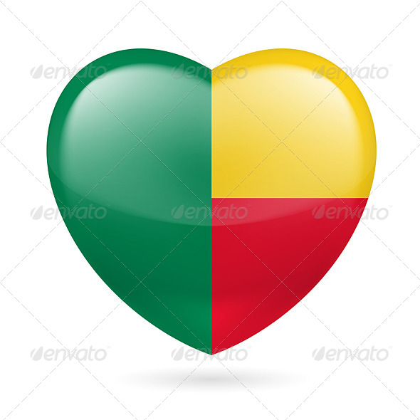 GraphicRiver Heart Icon of Benin 7313820