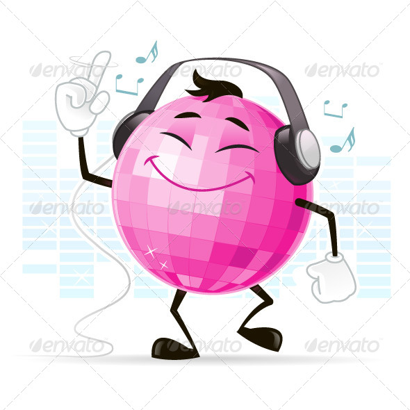 GraphicRiver Disco Ball Character 7314063