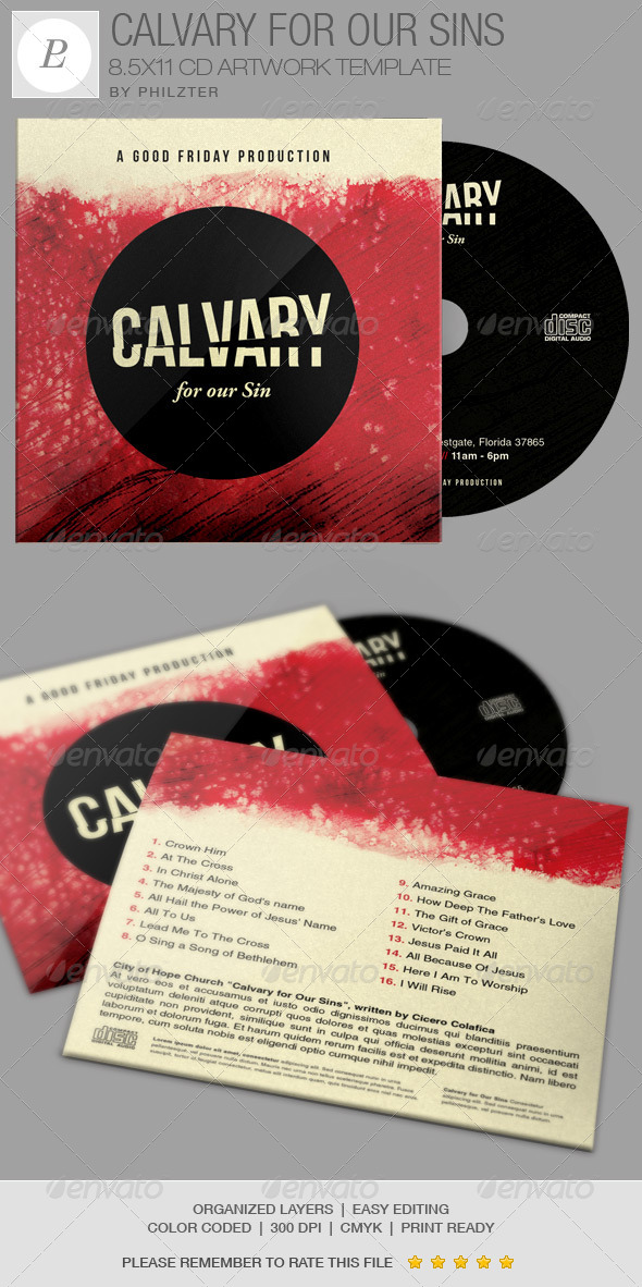 GraphicRiver Calvary for Our Sins CD Artwork Template 7314154