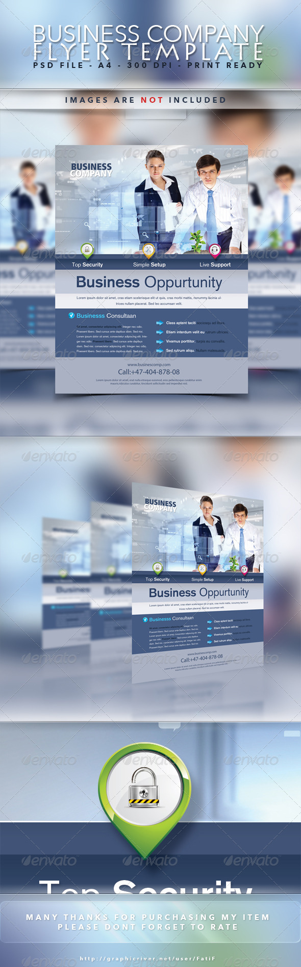 GraphicRiver Business Company Flyer Template 7302747
