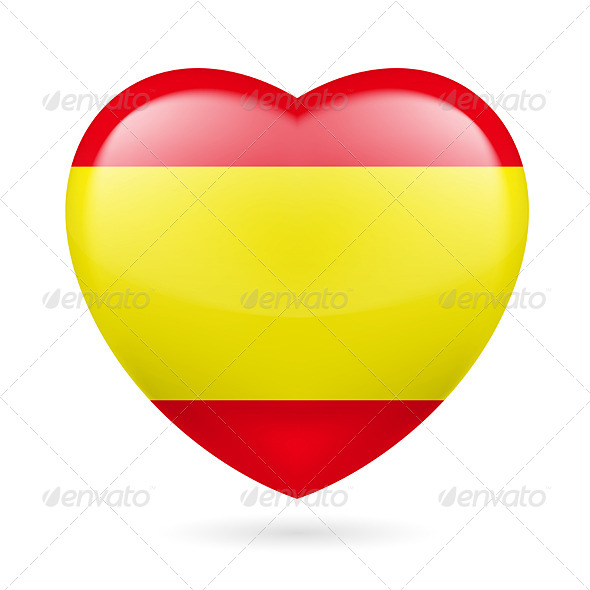 GraphicRiver Heart Icon of Spain 7314272