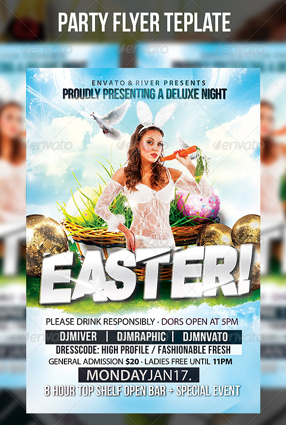 GraphicRiver Easter Party Flyer Template 7287529