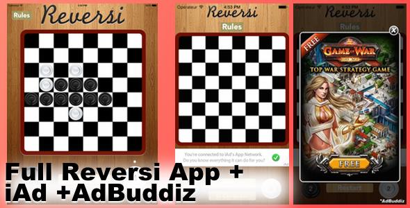 CodeCanyon Reversi Universal iOS App & iAd & AdBuddiz 7314320