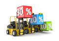 Forklift and percent boxes - PhotoDune Item for Sale