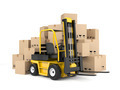Forklift and cardboard boxes - PhotoDune Item for Sale