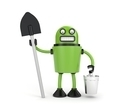 Robot with bucket and shovel - PhotoDune Item for Sale
