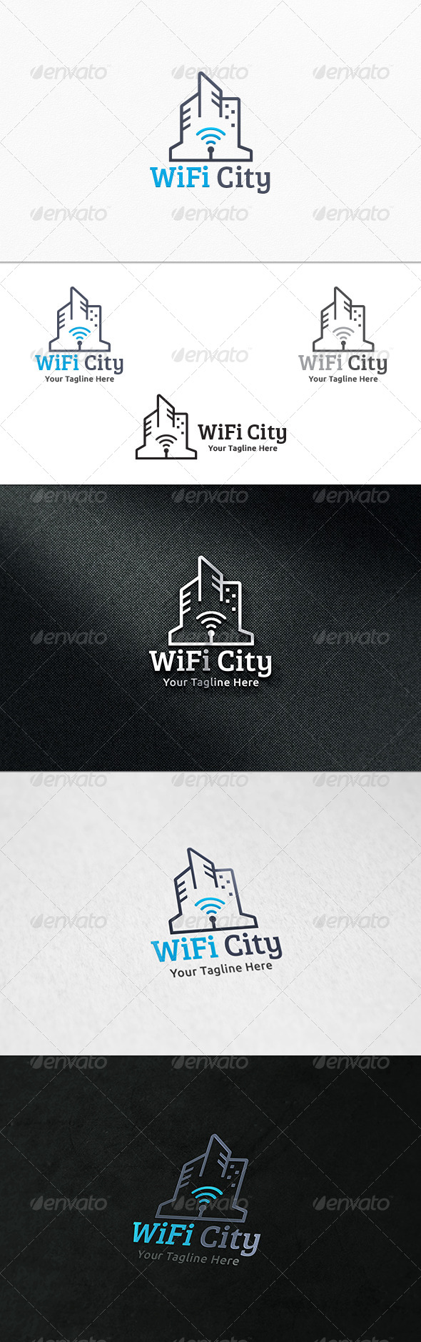 GraphicRiver WiFi City Logo Template 7314380