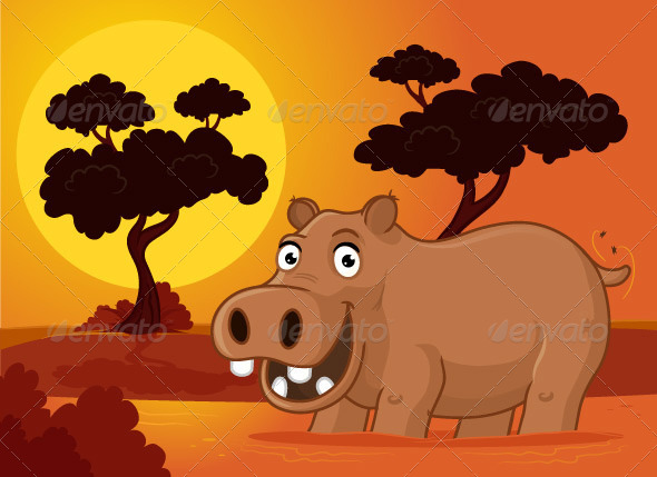GraphicRiver Hippopotamus 7292160