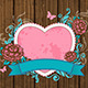 Heart and Pink Roses - GraphicRiver Item for Sale