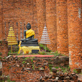 Old Buddha statue in temple ruin. Ayuthaya, Thailand - PhotoDune Item for Sale