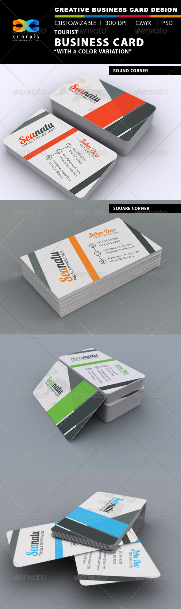 GraphicRiver Tourist Business Card 7314570