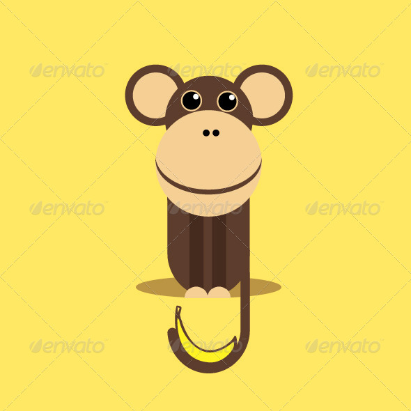 GraphicRiver Monkey with Banana 7314606