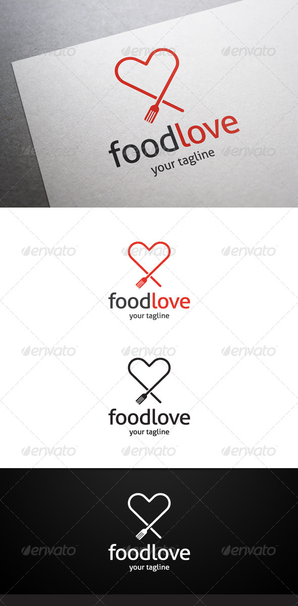 GraphicRiver Food Love Logo 7314635