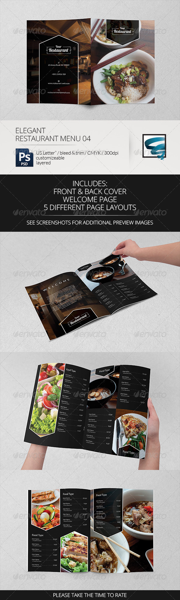 GraphicRiver Elegant Restaurant Menu 04 7314661