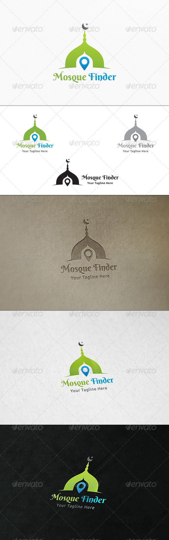 GraphicRiver Mosque Finder Logo Template 7314782