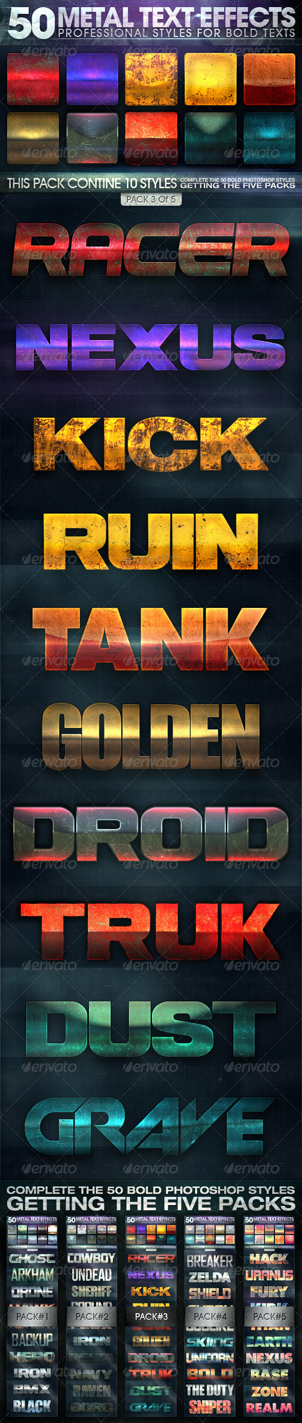 GraphicRiver 50 Metal Text Effects 3 of 5 7314999