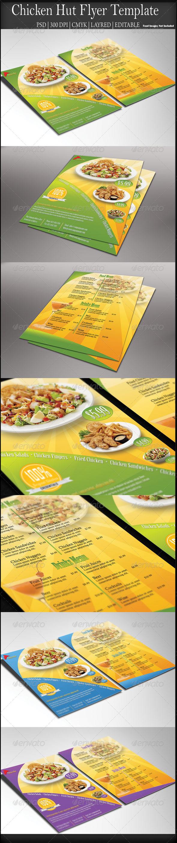 GraphicRiver Chicken Hut Flyer 7302181