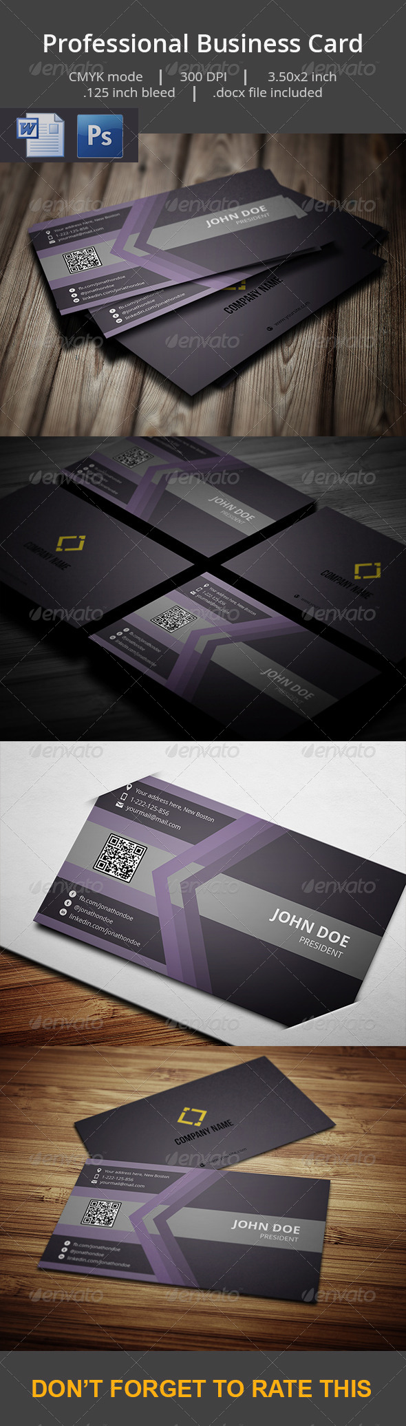 GraphicRiver Professional Business Card With MS Word Doc 7310145