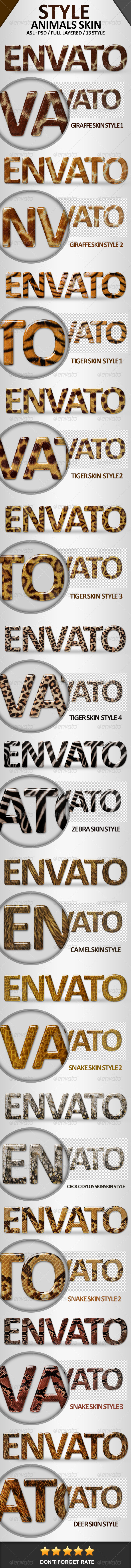 GraphicRiver Animals Skin Effects Styles 7315406