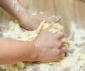 Kneading Dough on the Kitchen Table - PhotoDune Item for Sale
