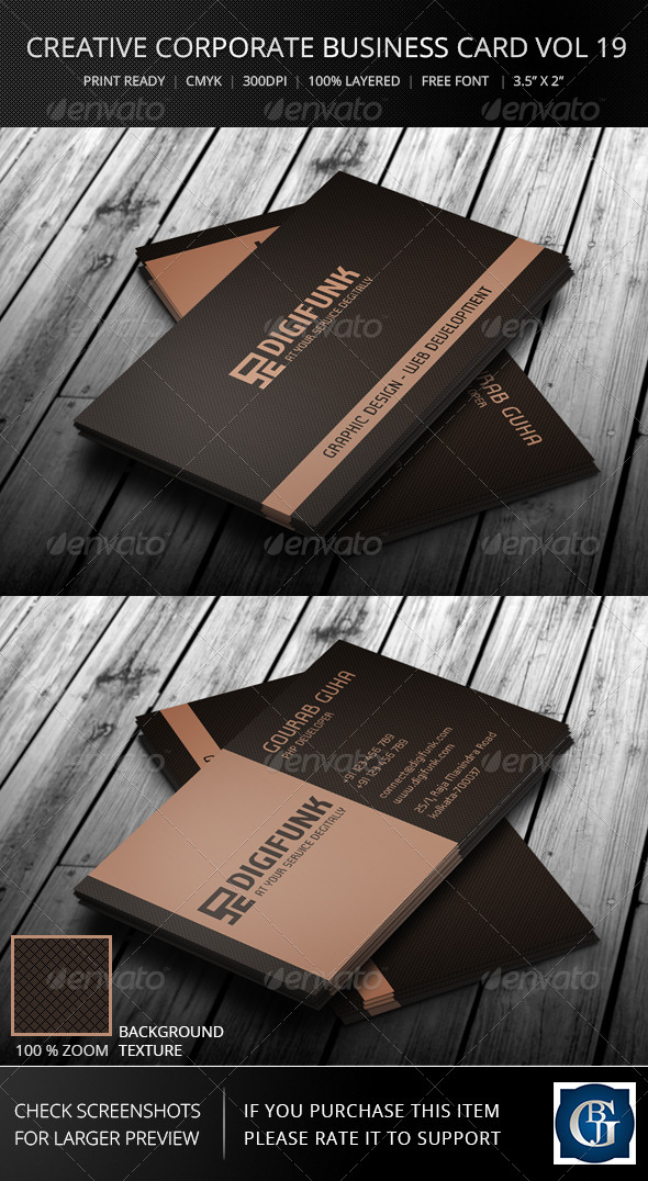 GraphicRiver Corporate Business Card Vol 19 7315463