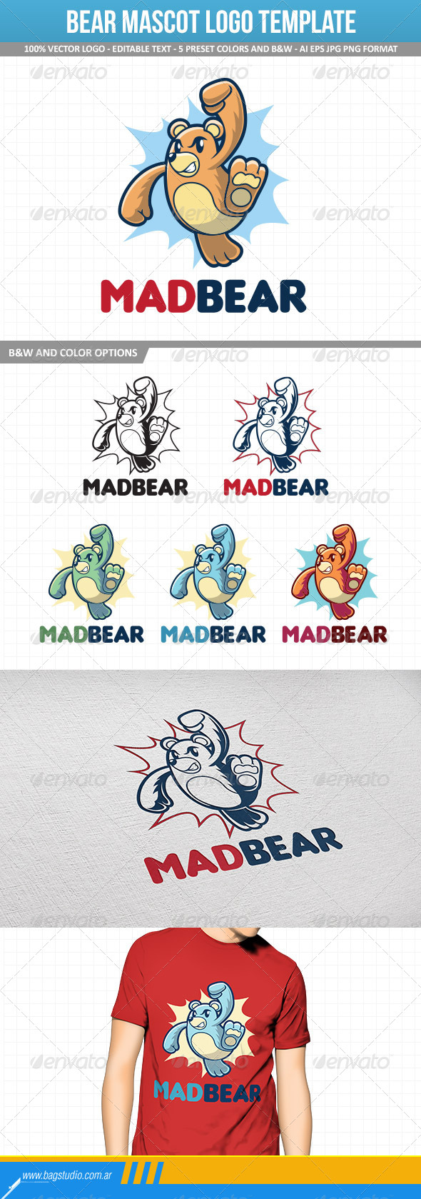 GraphicRiver Bear Mascot Logo Template 7315540