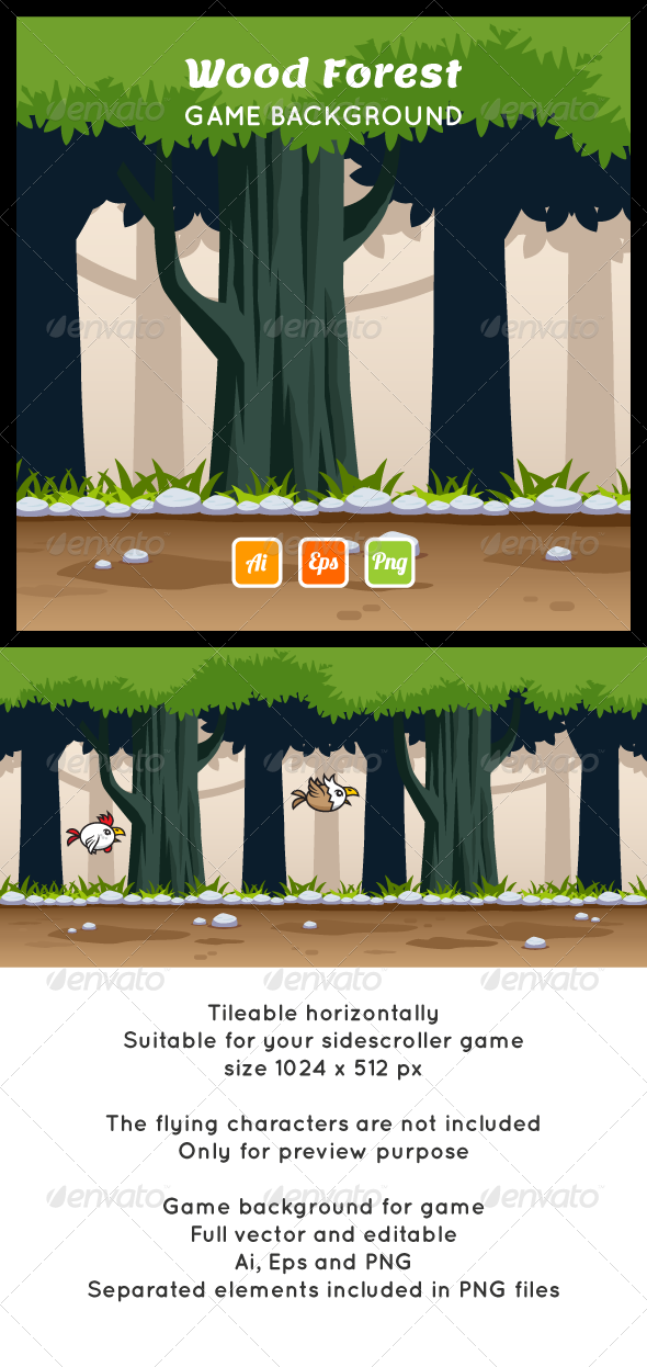 GraphicRiver Forest Game Background 7315548