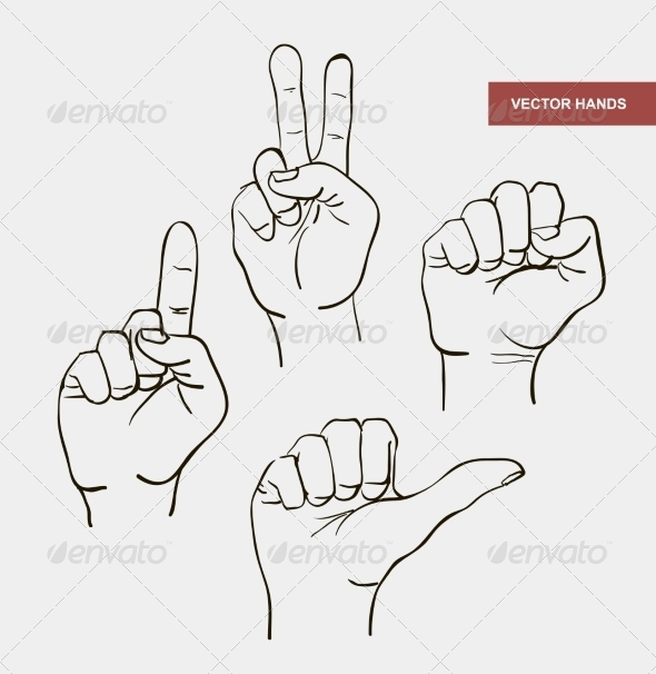 GraphicRiver Vector Hand Drawn Image Hands 7315683