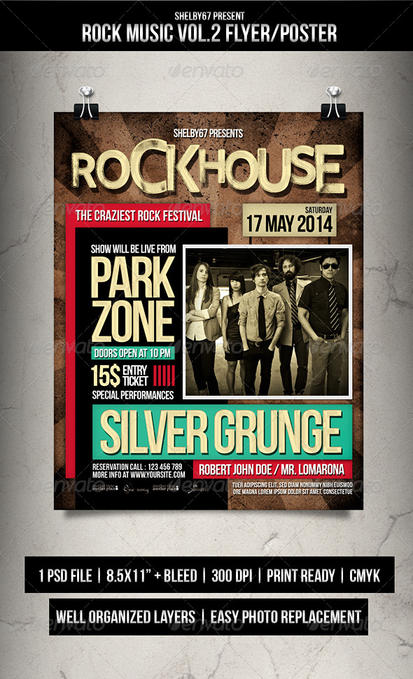 GraphicRiver Rock Music Flyer Poster Vol.2 7317224