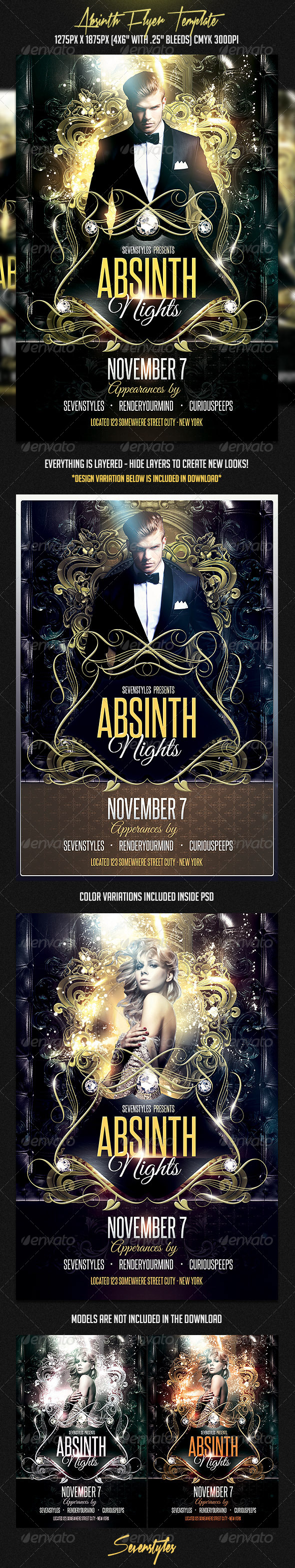 GraphicRiver Absinth Flyer Template 7317229