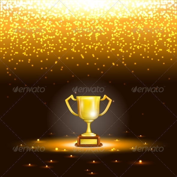 GraphicRiver Winner Cup with Spark Rain 7317598