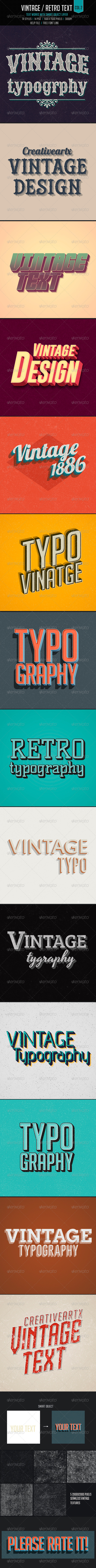 GraphicRiver Vintage Retro Text Col2 7317683