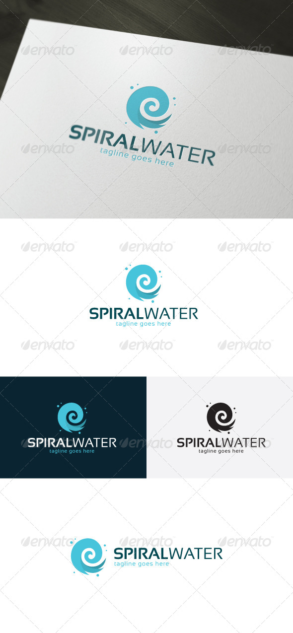 GraphicRiver Spiral Water Logo 7317748