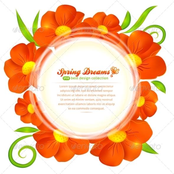 GraphicRiver Orange Flower 7317966