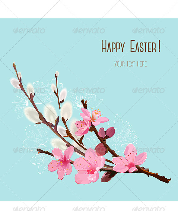 GraphicRiver Happy Easter Card 7307942