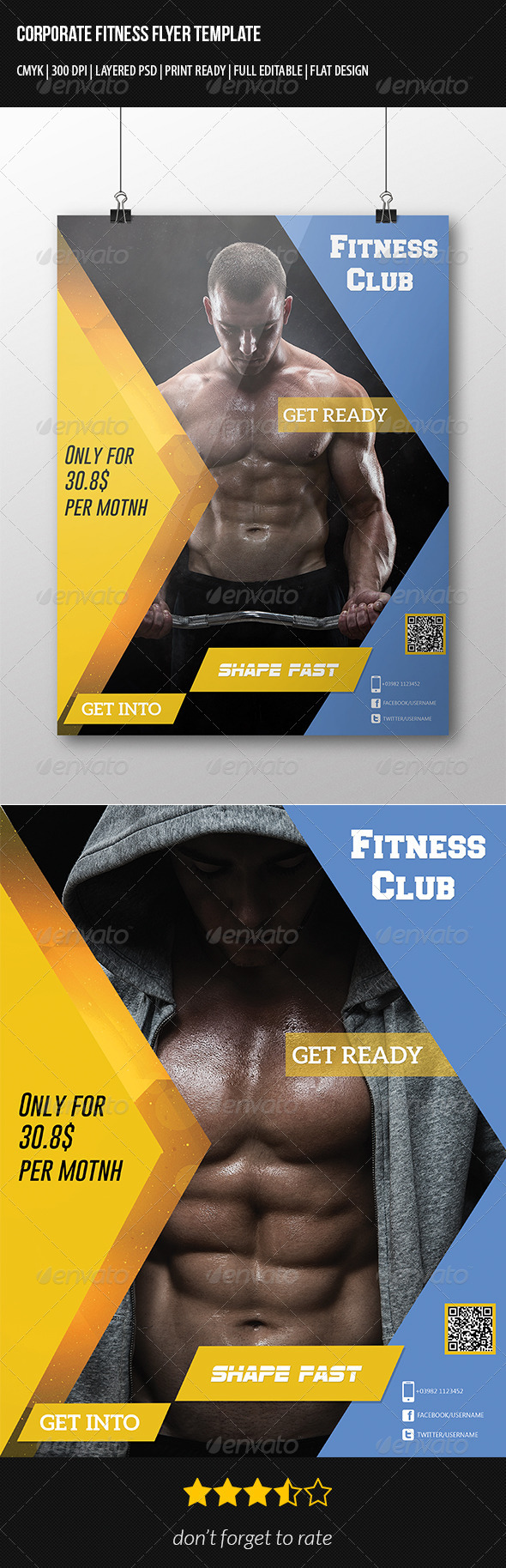 GraphicRiver Corporate Fitness Flyer Template 7301963